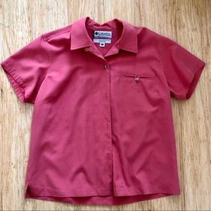 3 for $25 Columbia Cotton Short Sleeve Shirt Pink